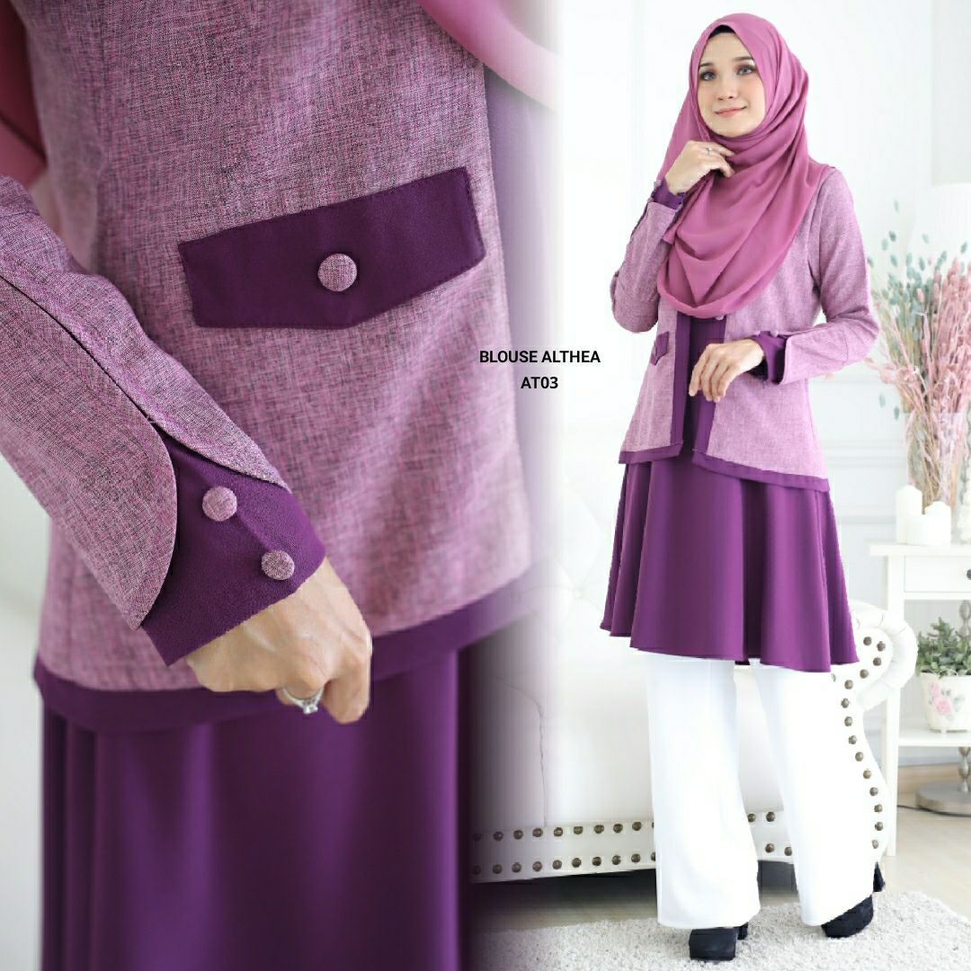 BLOUSE MUSLIMAH 2019 MODEN ALTHEA AT03 3