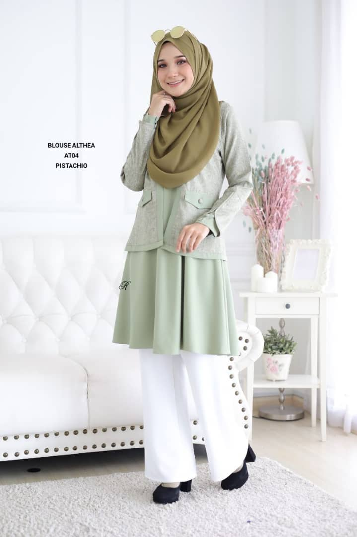 BLOUSE MUSLIMAH 2019 MODEN ALTHEA AT04 1