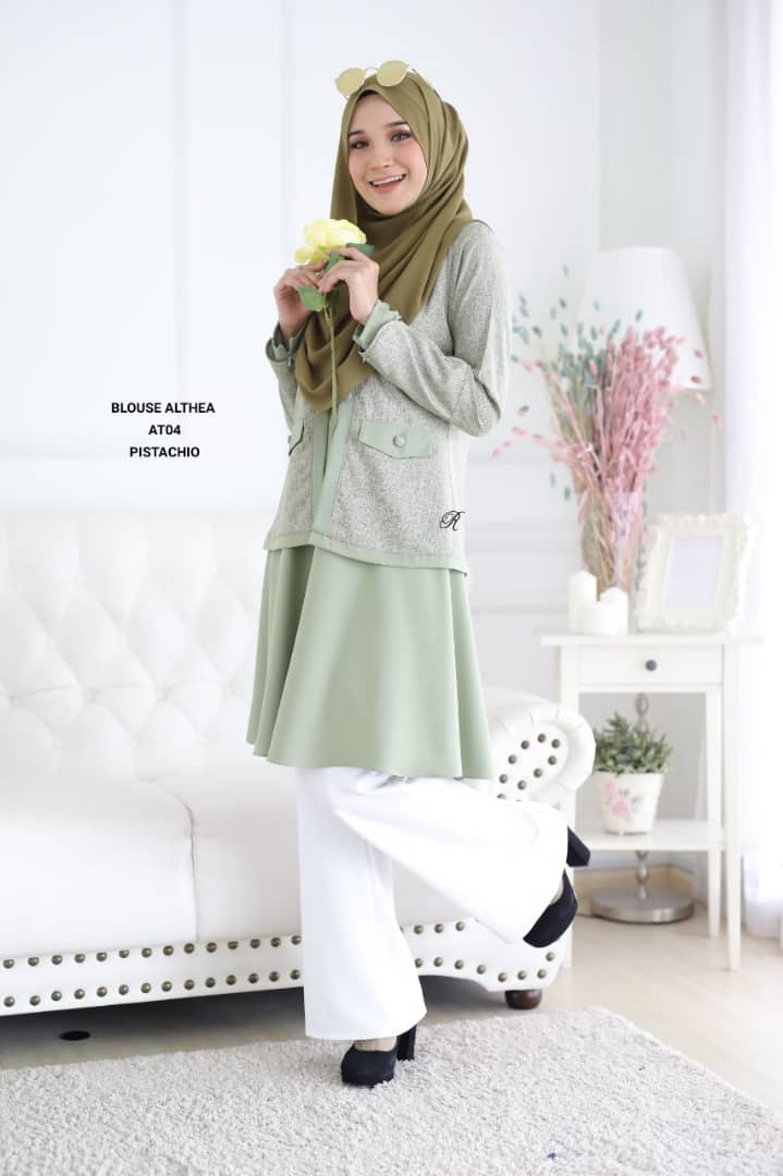 BLOUSE MUSLIMAH 2019 MODEN ALTHEA AT04 2