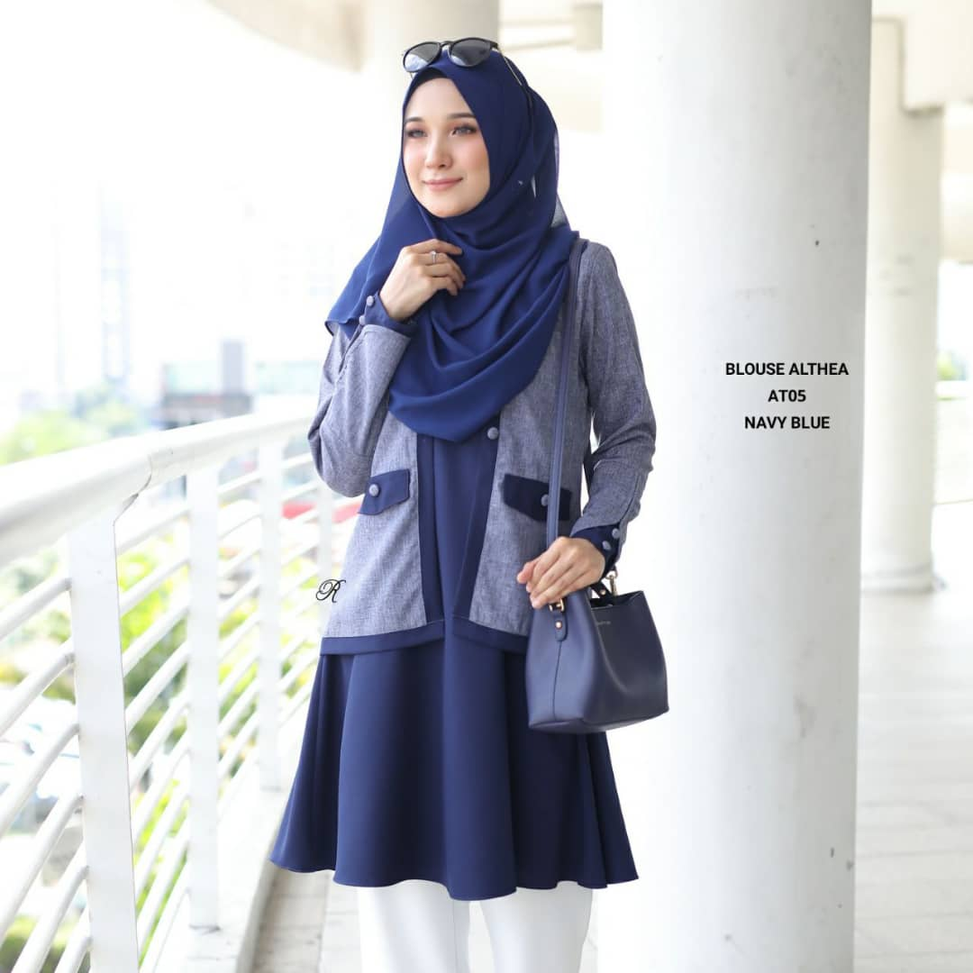 BLOUSE MUSLIMAH 2019 MODEN ALTHEA AT05 2