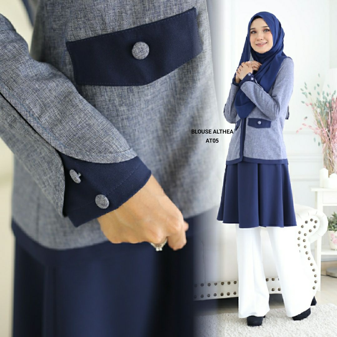 BLOUSE MUSLIMAH 2019 MODEN ALTHEA AT05 3