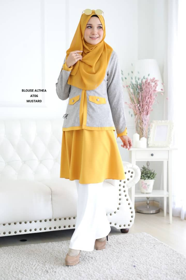 BLOUSE MUSLIMAH 2019 MODEN ALTHEA AT06 2