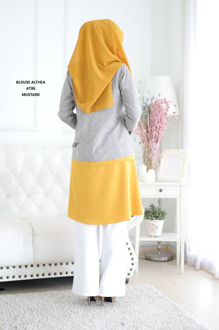 BLOUSE MUSLIMAH 2019 MODEN ALTHEA BACK