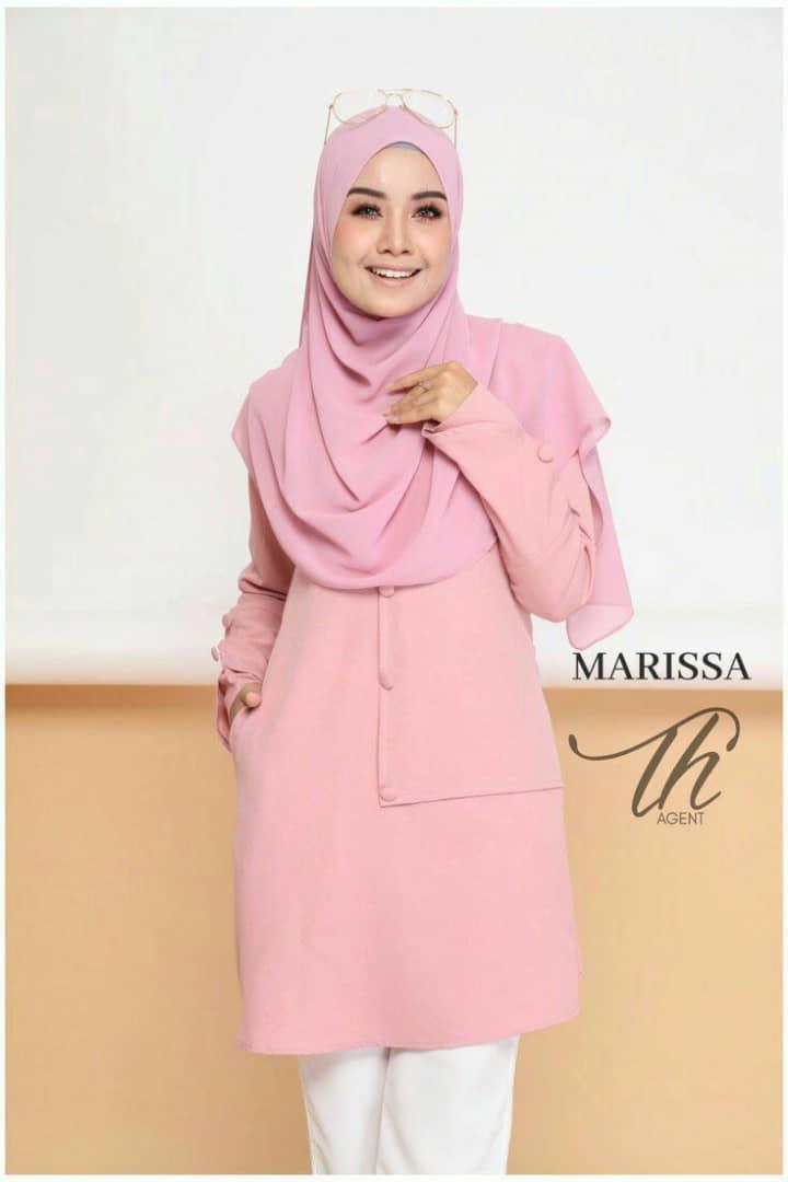 BLOUSE MUSLIMAH MODEN 2019 MARISSA DUSTY PINK