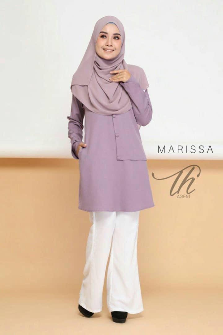BLOUSE MUSLIMAH MODEN 2019 MARISSA LAVENDER 2