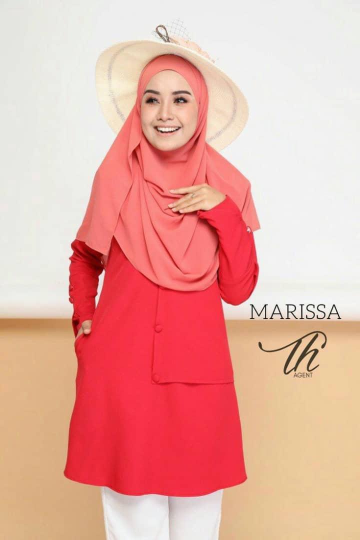 BLOUSE MUSLIMAH MODEN 2019 MARISSA RED