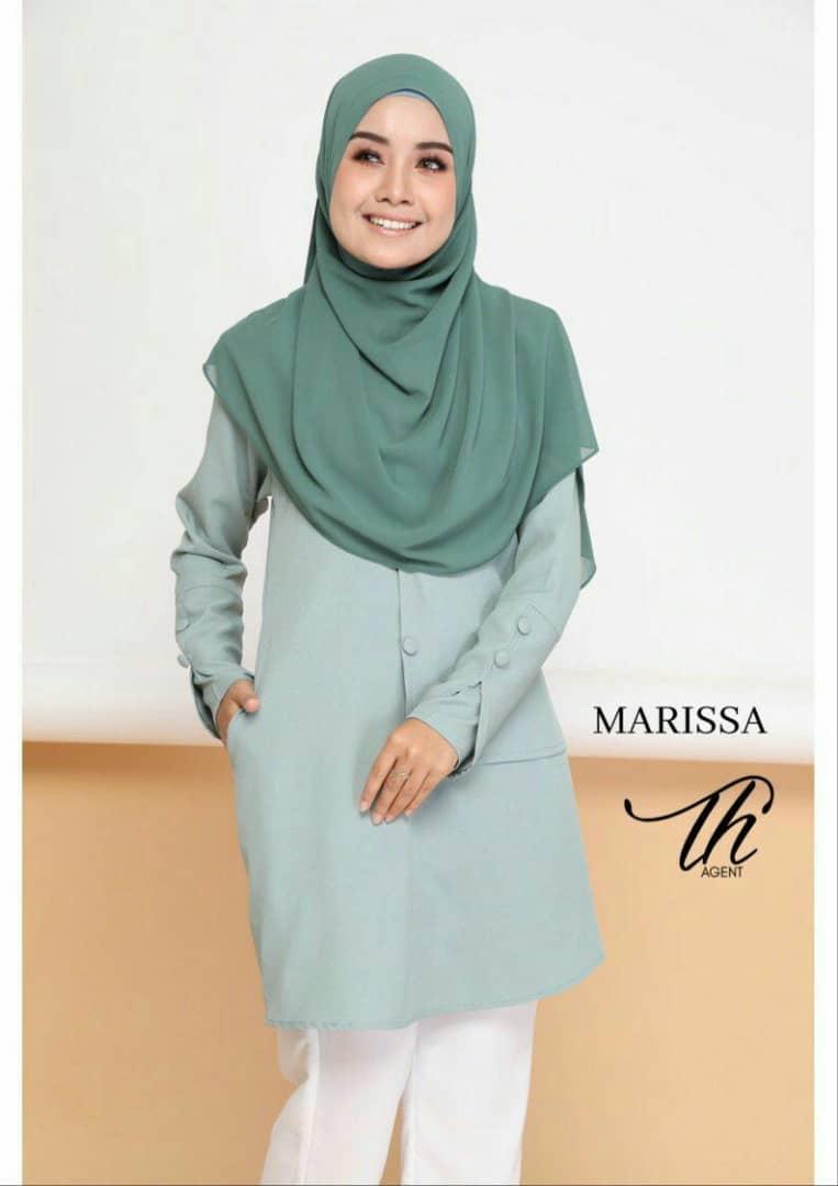 BLOUSE MUSLIMAH MODEN 2019 MARISSA SOFT GREEN