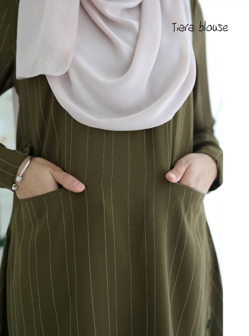 BLOUSE MUSLIMAH TERKINI 2018 MODEN TIARA CLOSE 3