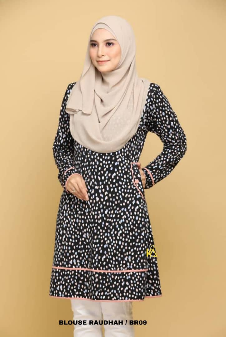 BLOUSE MUSLIMAH TRAVEL FRIENDLY IRONLESS RAUDHAH BR09 2
