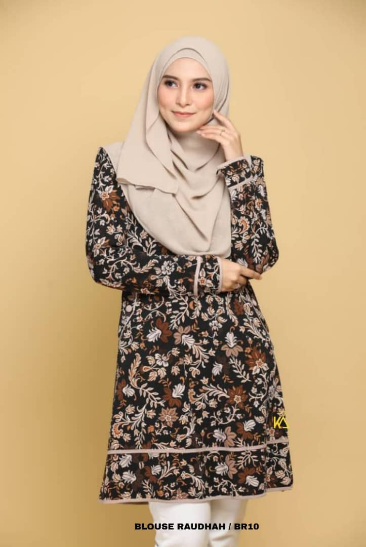 BLOUSE MUSLIMAH TRAVEL FRIENDLY IRONLESS RAUDHAH BR10