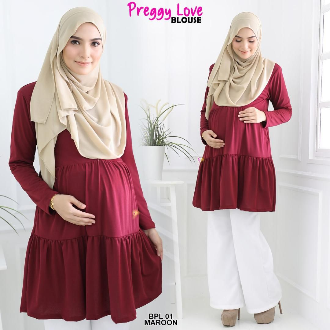 BLOUSE PREGGY LOVE ANTI IRON TRAVEL FRIENDLY BPL01