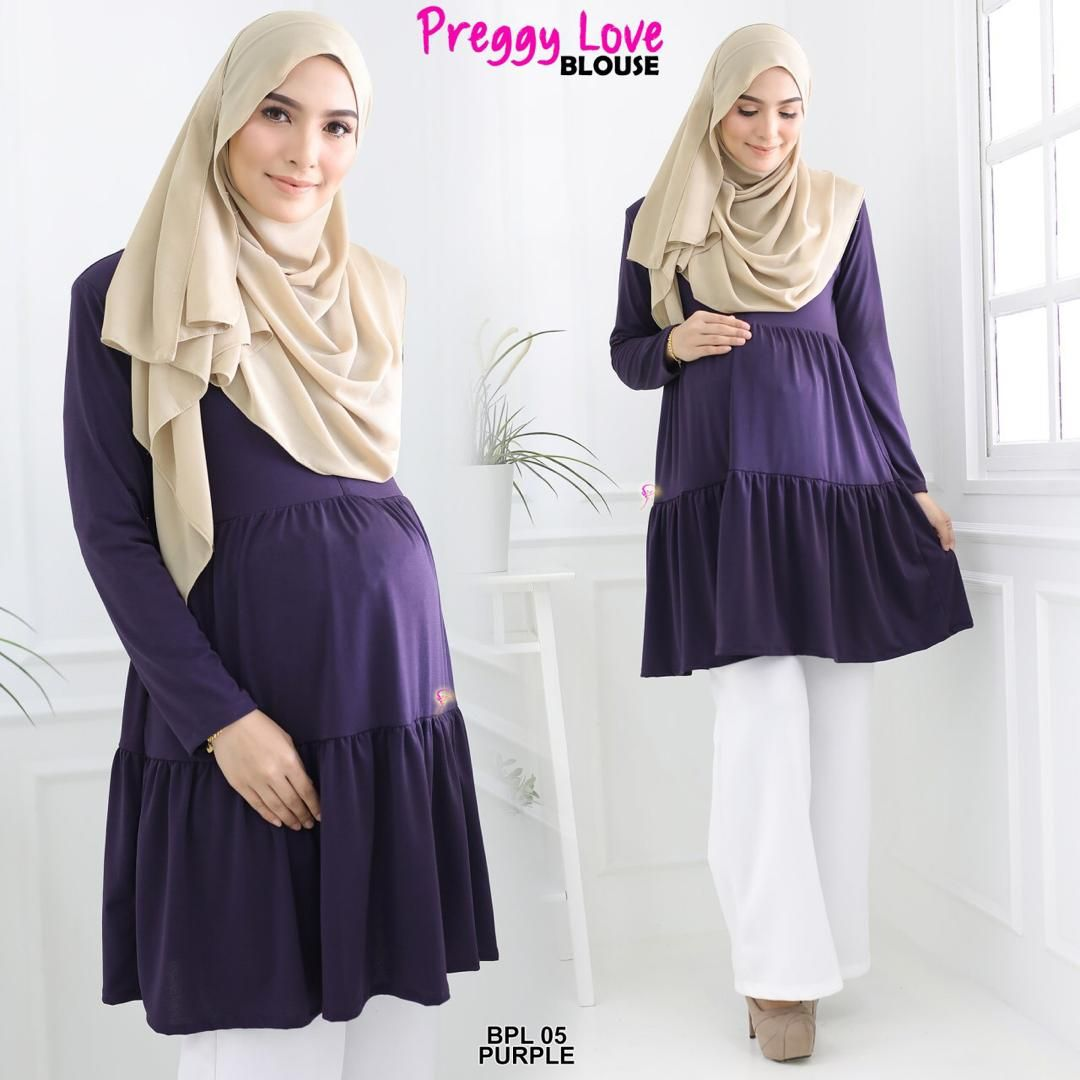 BLOUSE PREGGY LOVE ANTI IRON TRAVEL FRIENDLY BPL05