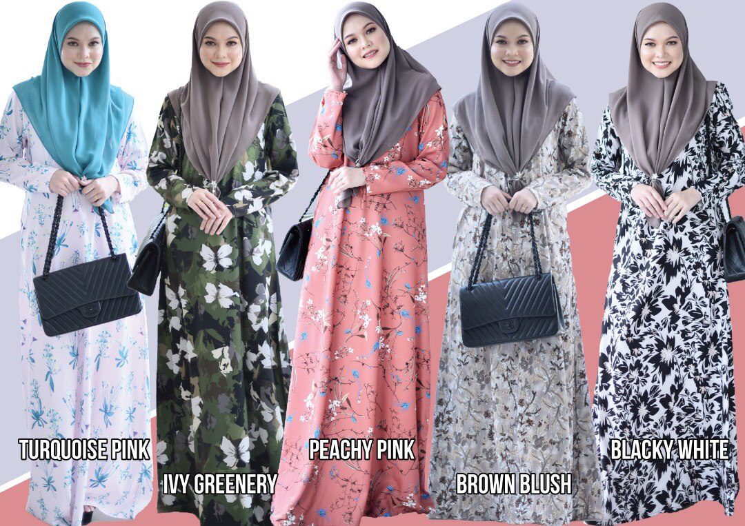 JUBAH PRINTED AIRIS TERKINI ALL