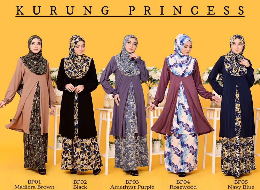 KURUNG MODEN IRONLESS TRAVEL FRIENDLY PRINCESS BP ALL