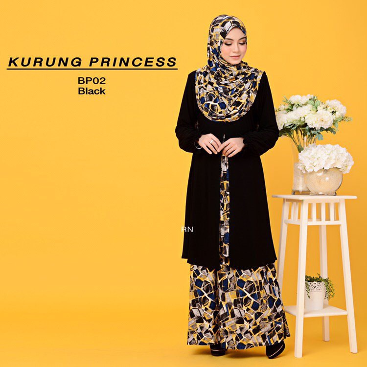 KURUNG MODEN IRONLESS TRAVEL FRIENDLY PRINCESS BP02