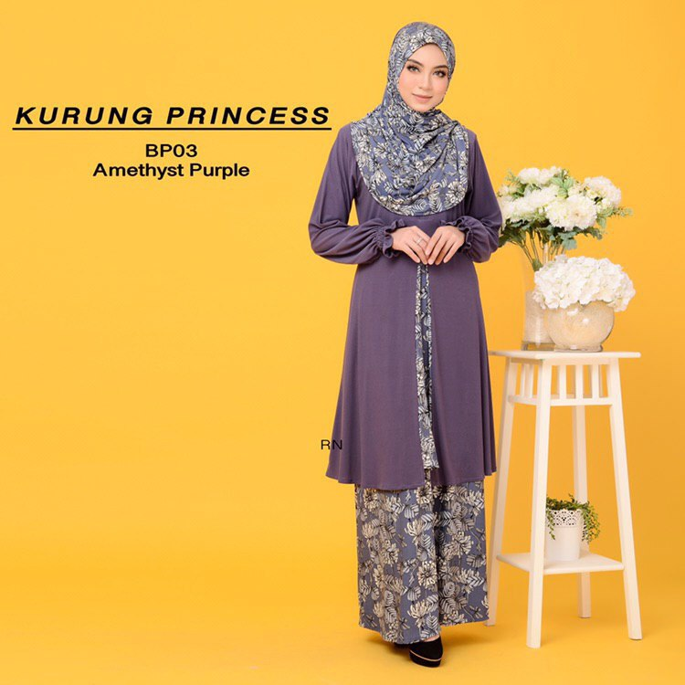 KURUNG MODEN IRONLESS TRAVEL FRIENDLY PRINCESS BP03