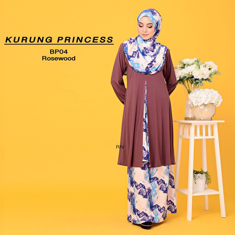 KURUNG MODEN IRONLESS TRAVEL FRIENDLY PRINCESS BP04
