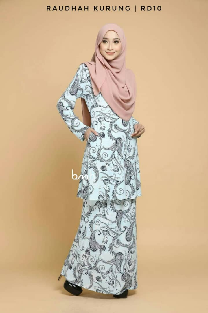KURUNG MODEN IRONLESS TRAVEL FRIENDLY RAUDHAH RD10 1