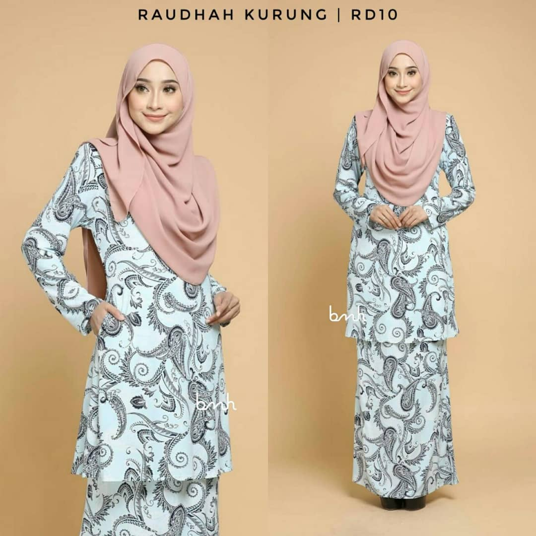 KURUNG MODEN IRONLESS TRAVEL FRIENDLY RAUDHAH RD10 2