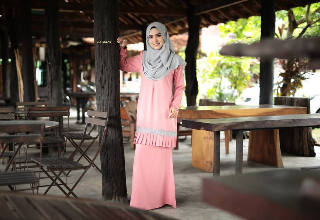 KURUNG MODEN LIANY EKSKLUSIF DUSTY PEACH 1