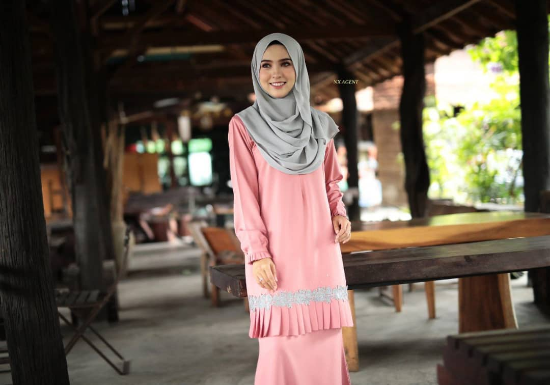 KURUNG MODEN LIANY EKSKLUSIF DUSTY PEACH 2