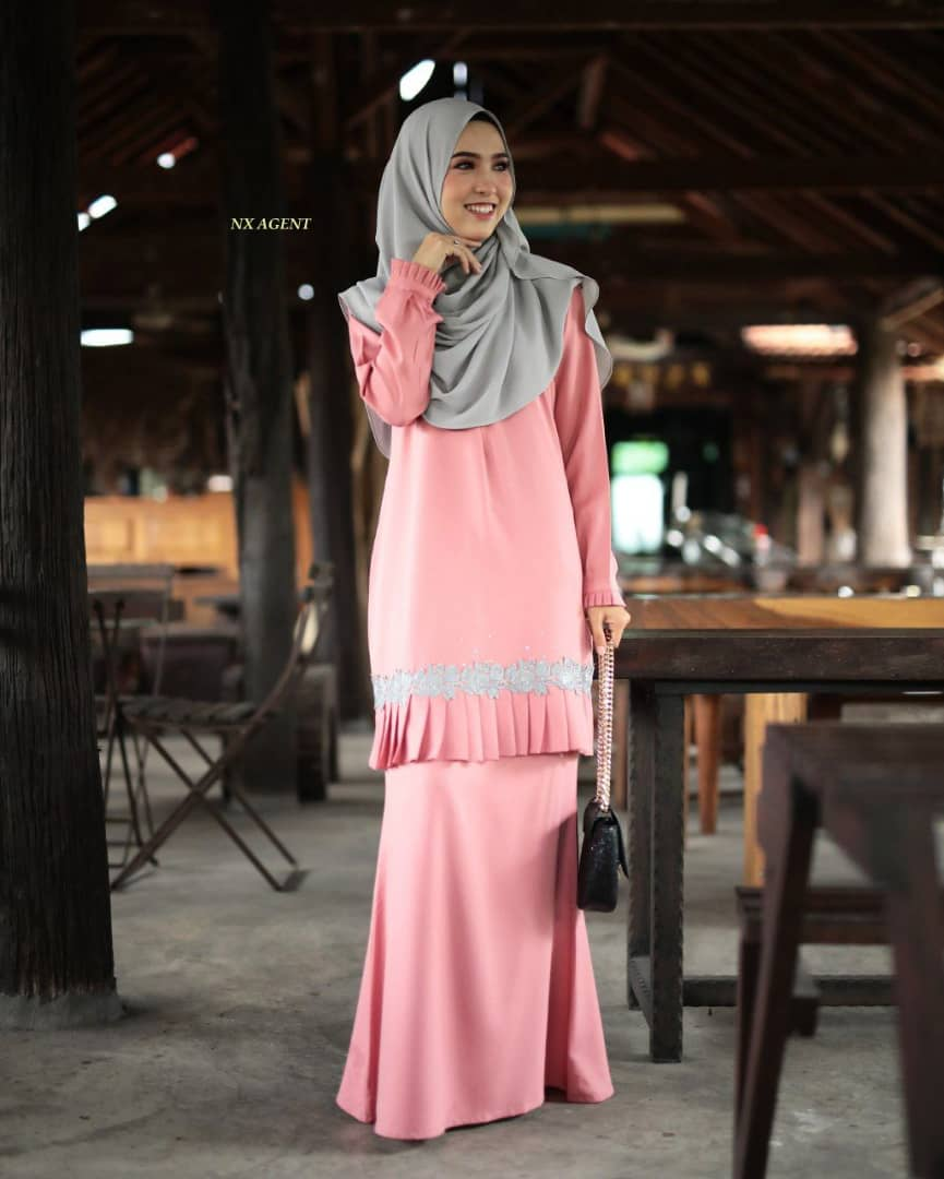 KURUNG MODEN LIANY EKSKLUSIF DUSTY PEACH 3