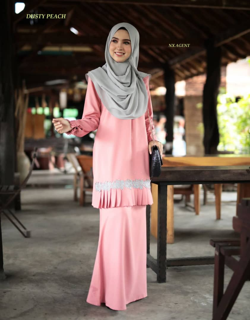 KURUNG MODEN LIANY EKSKLUSIF DUSTY PEACH 4