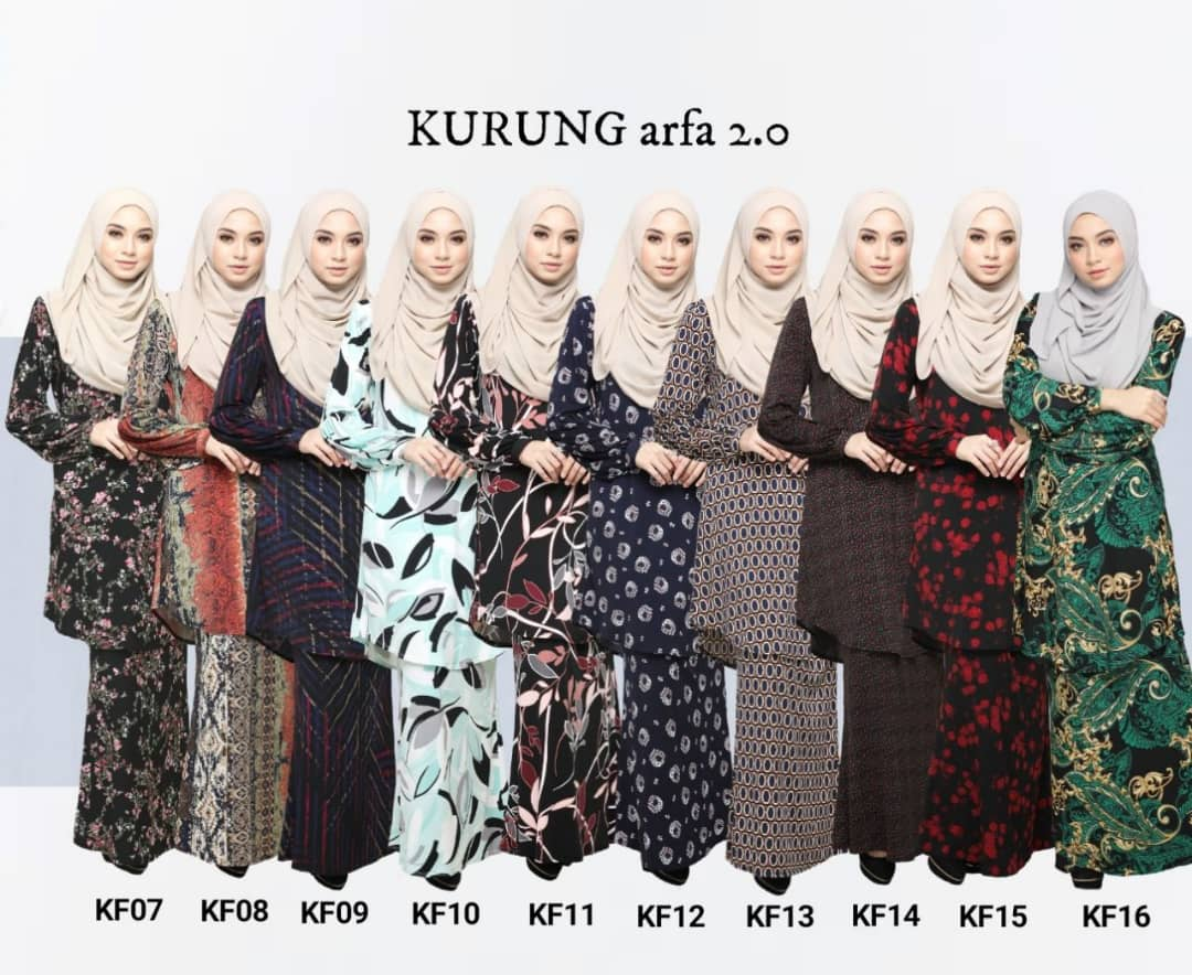 KURUNG MODEN LYCRA IRONLESS ARFA KF ALL