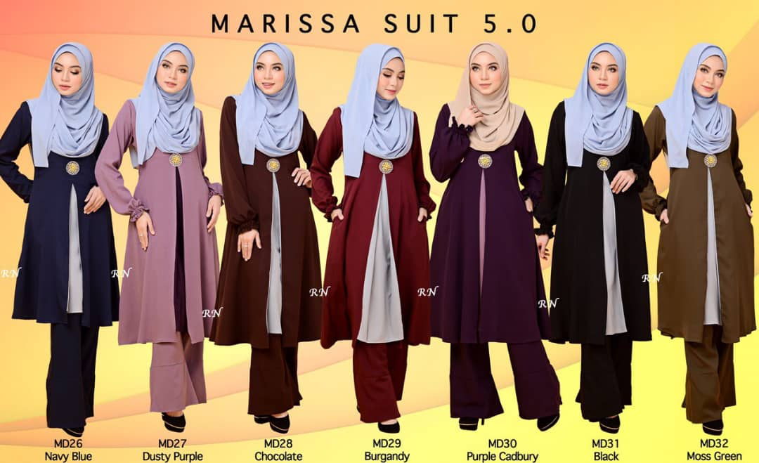 MUSLIMAH PANT SUIT MARISSA MD ALL
