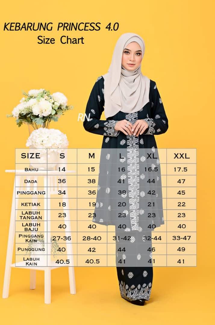 BAJU KEBARUNG TERKINI 2019 SONGKET PRINCESS KP UKURAN