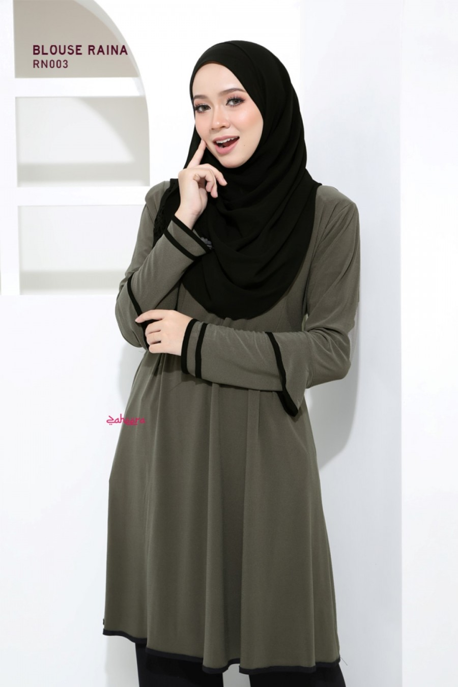 BLOUSE IRONLESS TRAVEL FRIENDLY RAINA RN003 1