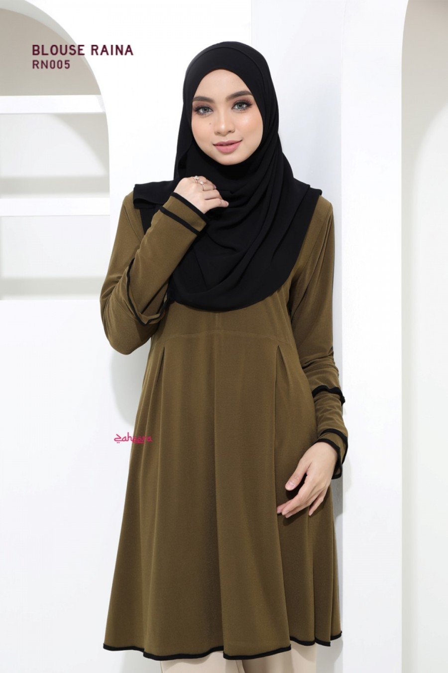 BLOUSE IRONLESS TRAVEL FRIENDLY RAINA RN005 1