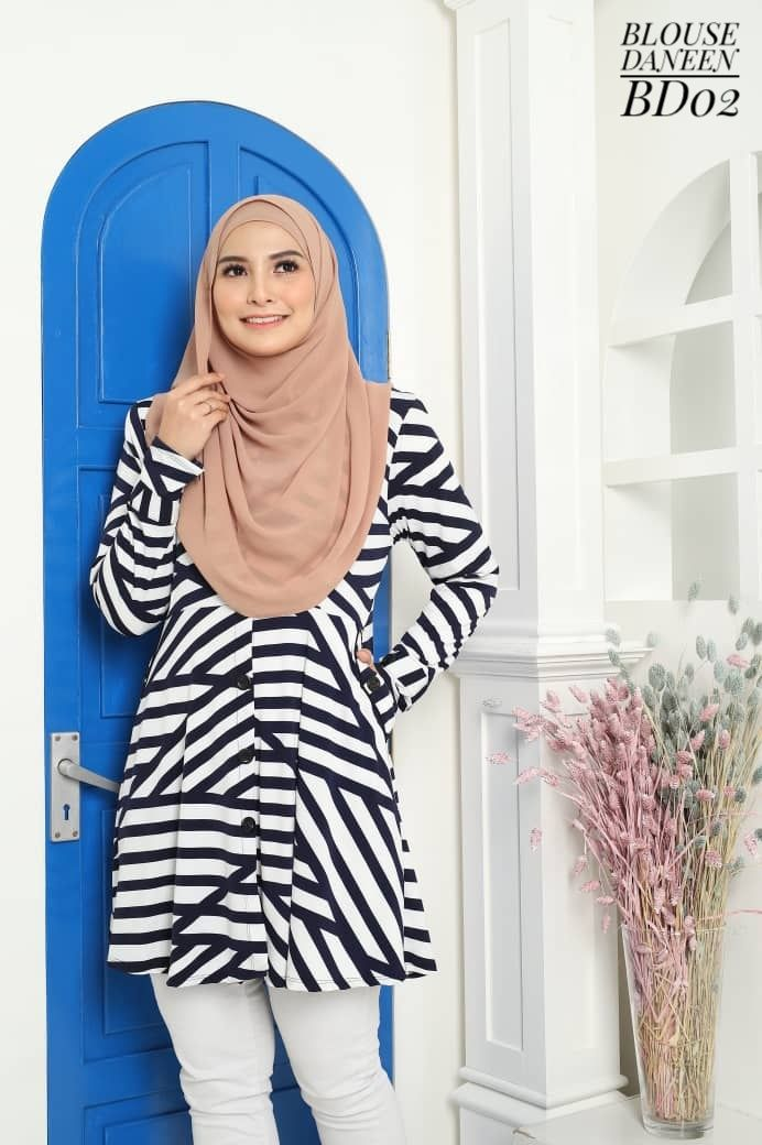 BLOUSE MUSLIMAH TERKINI LYCRA IRONLESS TRAVEL FRIENDLY DANEEN BD02
