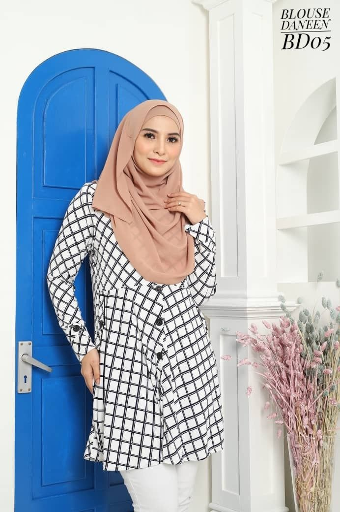 BLOUSE MUSLIMAH TERKINI LYCRA IRONLESS TRAVEL FRIENDLY DANEEN BD05