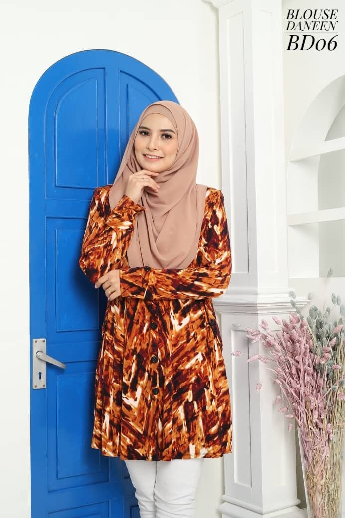 BLOUSE MUSLIMAH TERKINI LYCRA IRONLESS TRAVEL FRIENDLY DANEEN BD06