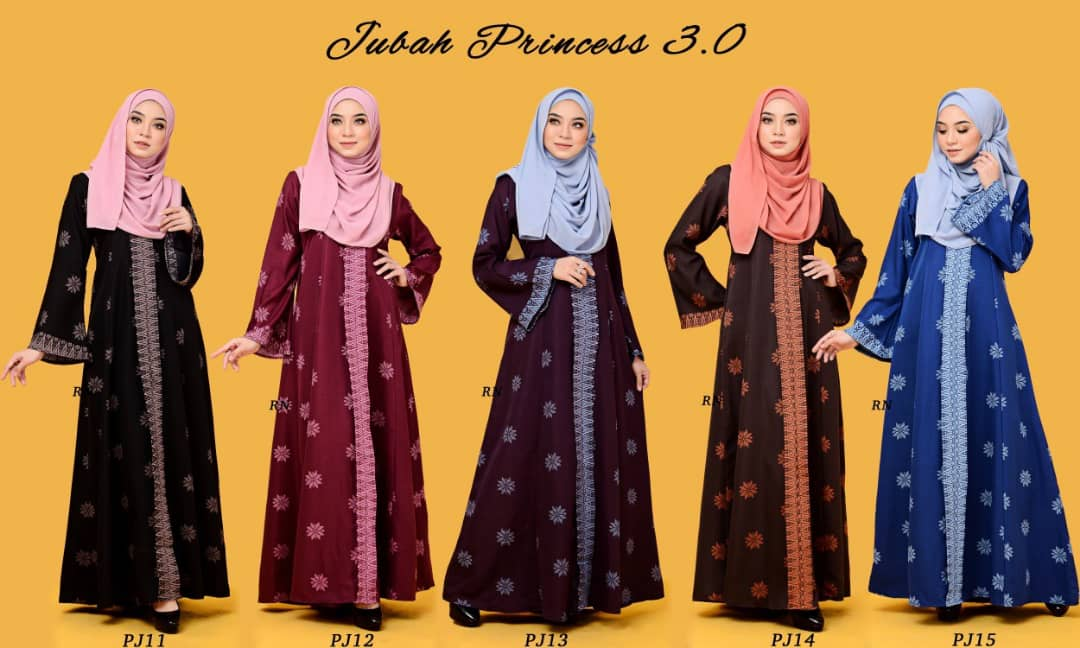 JUBAH PRINTED PRINCESS MOTIF SONGKET PJ ALL 1