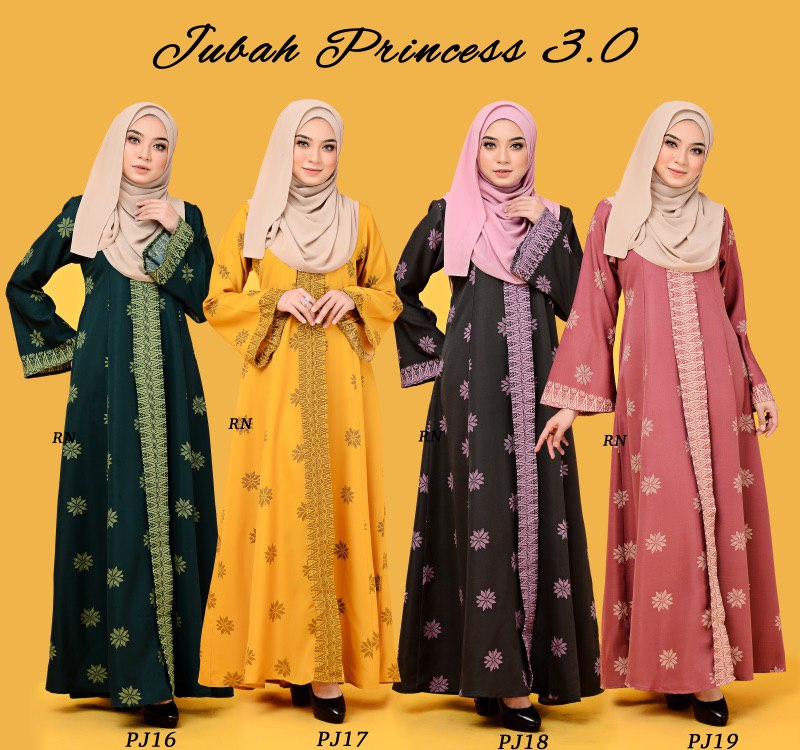 JUBAH PRINTED PRINCESS MOTIF SONGKET PJ ALL 2