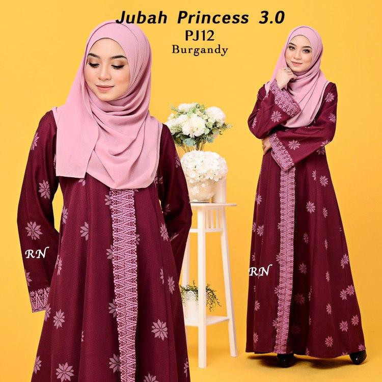 JUBAH PRINTED PRINCESS MOTIF SONGKET PJ12