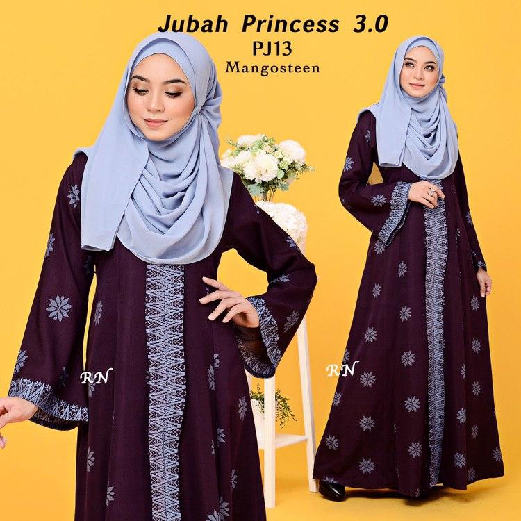 JUBAH PRINTED PRINCESS MOTIF SONGKET PJ13