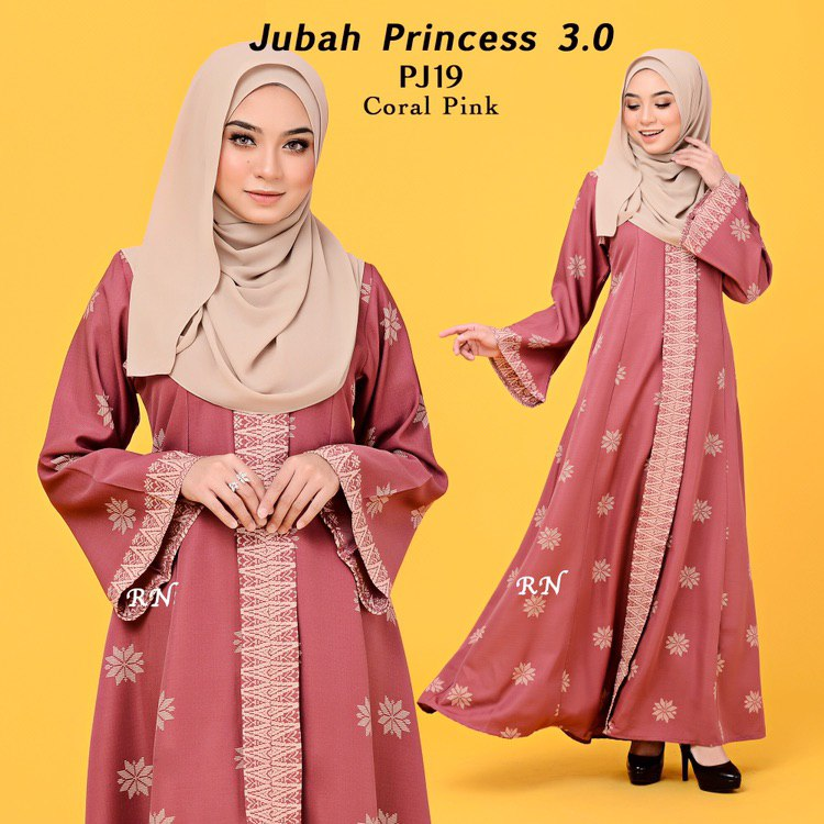 JUBAH PRINTED PRINCESS MOTIF SONGKET PJ19