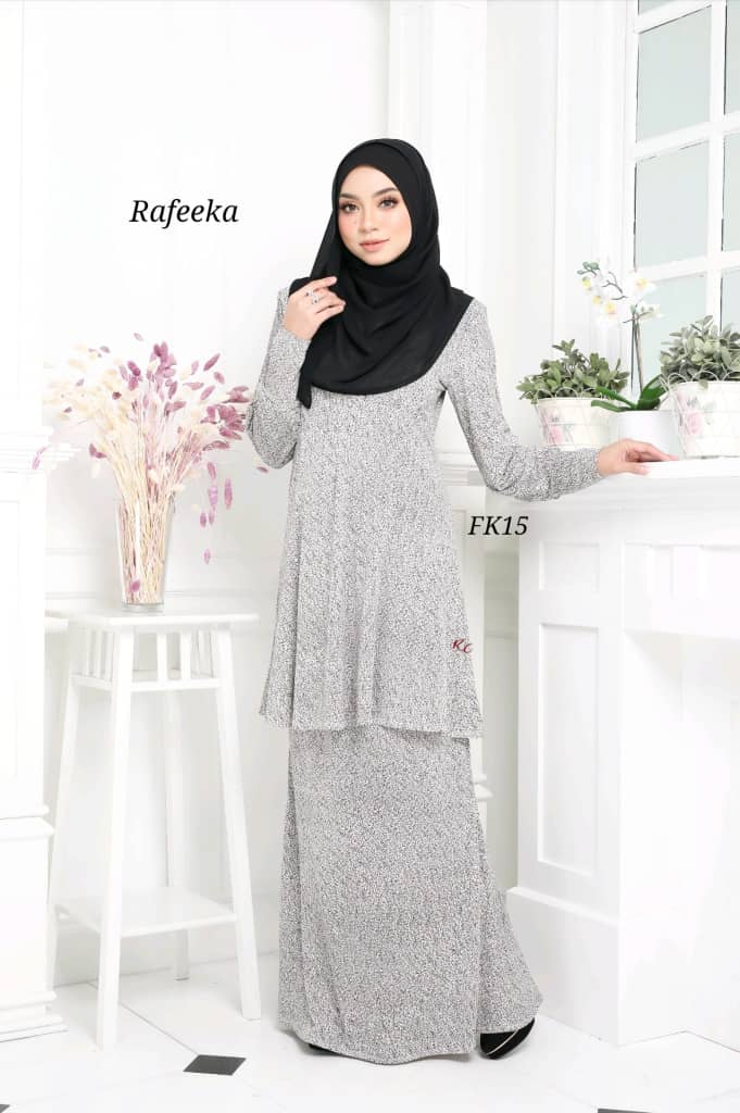 BAJU KURUNG MODEN LYCRA IRONLESS TRAVEL FRIENDLY RAFEEKA KF15 1