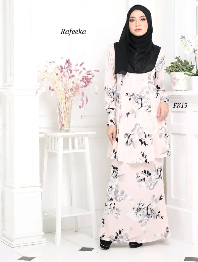 BAJU KURUNG MODEN LYCRA IRONLESS TRAVEL FRIENDLY RAFEEKA KF19 1