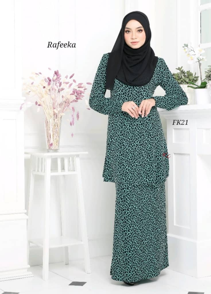 BAJU KURUNG MODEN LYCRA IRONLESS TRAVEL FRIENDLY RAFEEKA KF21 1