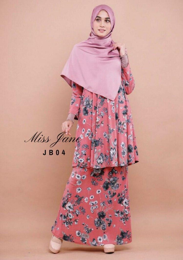 BAJU KURUNG MODEN LYCRA RAYA 2019 MISS JANE JB04