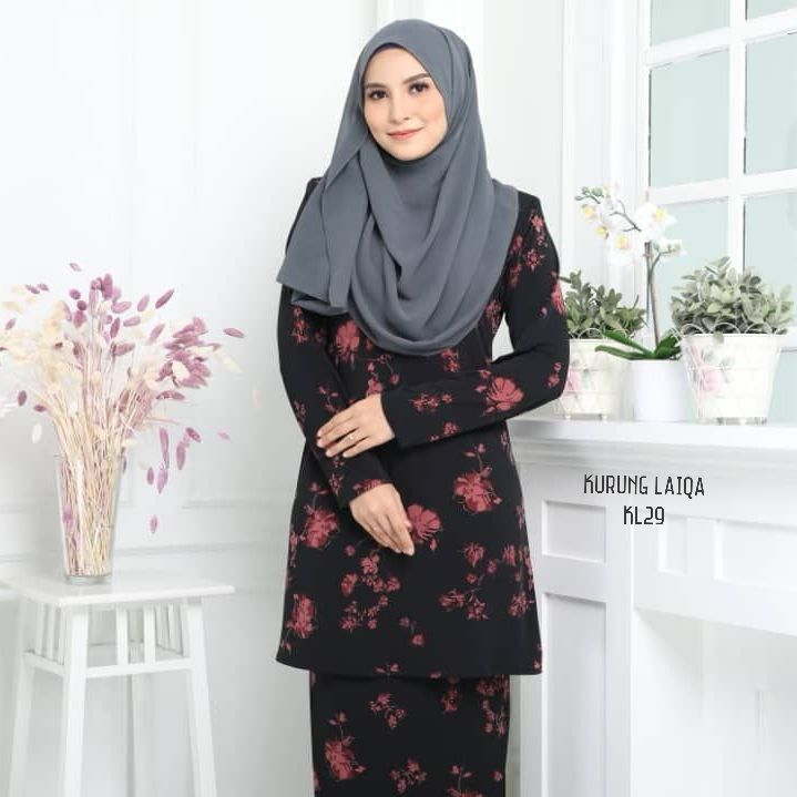BAJU KURUNG MODEN TERKINI RAYA 2019 IRONLESS LYCRA TRAVEL FRIENDLY LAIQA KL29 1