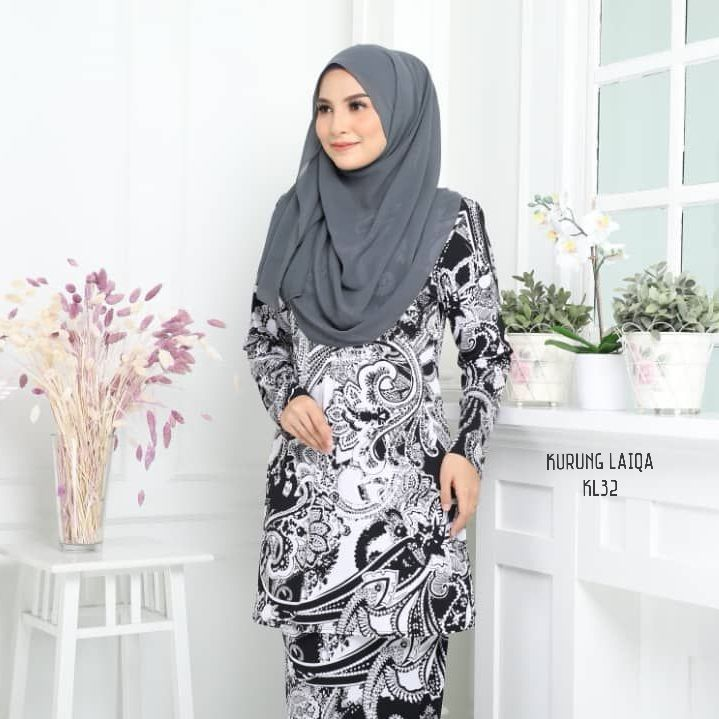 BAJU KURUNG MODEN TERKINI RAYA 2019 IRONLESS LYCRA TRAVEL FRIENDLY LAIQA KL32 1