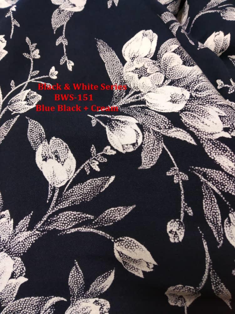 BAJU KURUNG PAHANG 2019 BLACK WHITE SERIES BWS151 3
