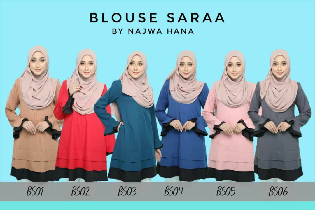 BLOUSE MUSLIMAH SARAA POLY CREPE BS ALL
