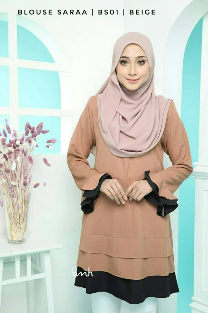 BLOUSE MUSLIMAH SARAA POLY CREPE BS01 2