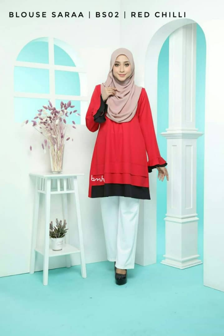BLOUSE MUSLIMAH SARAA POLY CREPE BS02 1